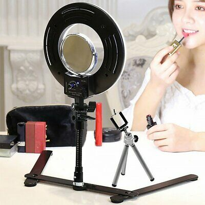 Selfie LED Studio Ring Light Dimmable Photo Video Lamp Tripod Kit Camera Phone