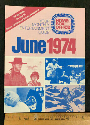 1974 June Hbo Home Box Office Movie Guide Booklet (As) Never Used Mint Cond