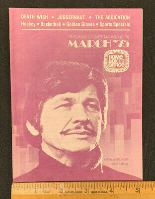 1975 March Charles Bronson Hbo Home Box Office Movie Guide (As) Mint Never Used
