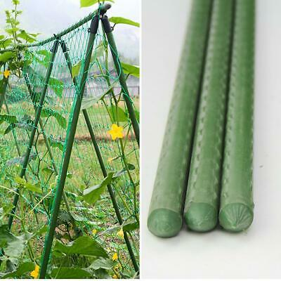 SUPPORT 1.2m PLASTIC COATED LIGHT STEEL BAMBOO PLANT SUPPORT STAKE 2.4m 1.8m