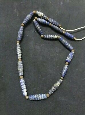 Ancient Roman Lapis lazuli stone Beads Lovely Strand Necklace
