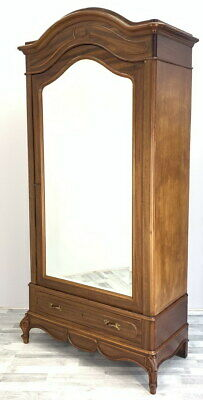 Impressive Antique French Armoire Wardrobe with mirror