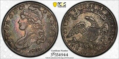 1834 PCGS XF45 Small Date, Small Letters Capped Bust Half (dw815)