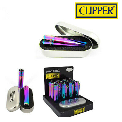 GENUINE ICY RAINBOW METAL CLIPPER LIGHTER with Gift TIN Case LIMITED  EDITION