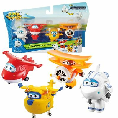 Aerei Astra, Jett, Donnie, Grand Albert | Super Wings | Set Mini Transformer