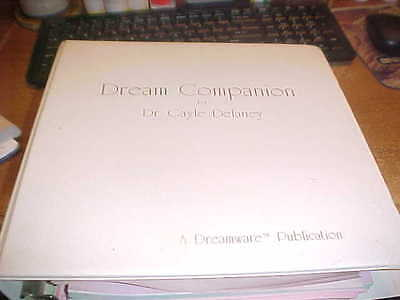 Dream Companion Workbook w 6 Cassette Tapes Dr. Delaney Improve Memory Mint