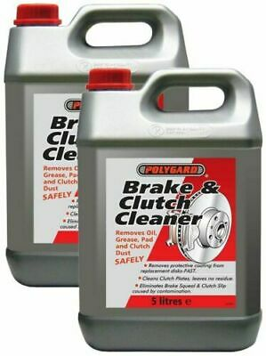 2 X Polygard Professional Brake & And Clutch Parts Cleaner Degreaser 5L 5 Litre