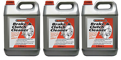 3 x Brake and Clutch Cleaner Eliminates Brake Squeal 5L ( Polygaurd / Polygard )