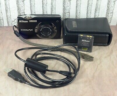 NIKON Black Coolpix S4000 12 MP 4x Zoom VR Touch Screen Compact Camera & Case