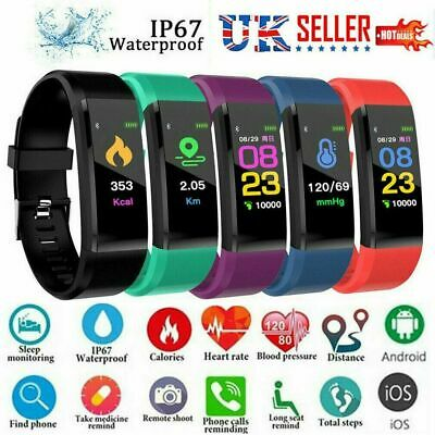 Fitness Smart Watch Activity Tracker Fitbit Android iOS Heart Rate Women Kid Men
