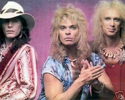 David Lee Roth Póster Pinup Steve Vai Billy Sheehan 80s