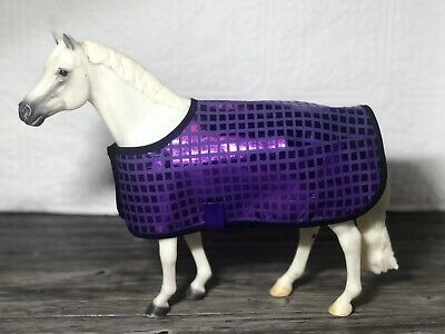 Retro Model Horse Blanket Purple Fits Traditional Breyer NEW