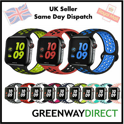 Replacement Watch Silicone Band Strap For Apple Watch Series 5/4/3/2 38/40/42/44