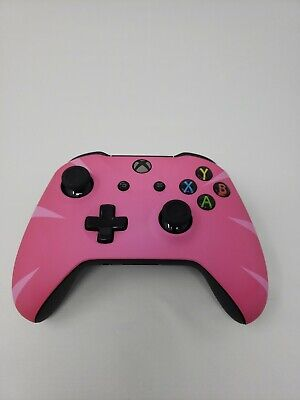 Pink Fortnite-style design Xbox One S Wireless Bluetooth Custom Controller