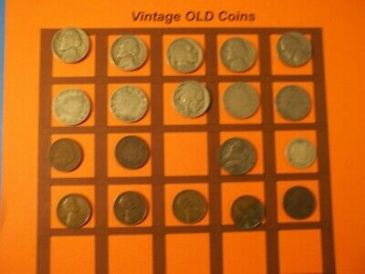 Estate Lot of Old Coins 50 to 125 Years Old with Some Silver  19 Coins  (OC45)