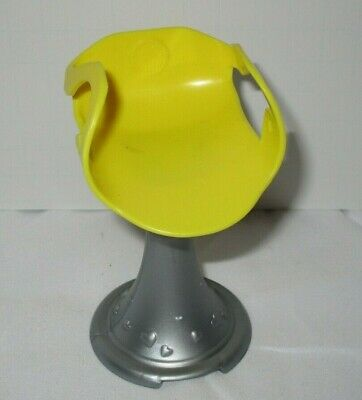 Barbie Yellow Chair Swivel Silver Grey Base Doll Furniture Office Salon
