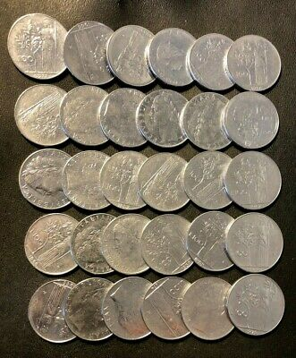 OLD ITALY COIN LOT - 10 LIRE - 30 High Grade Coins - Lot #F11
