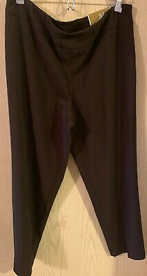 JM Collection Pants Womens Size 14s Brown Magic Flattens Tummy Stretch New Tags