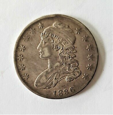 1836 US Silver Half Dollar 50 Cents Capped Bust