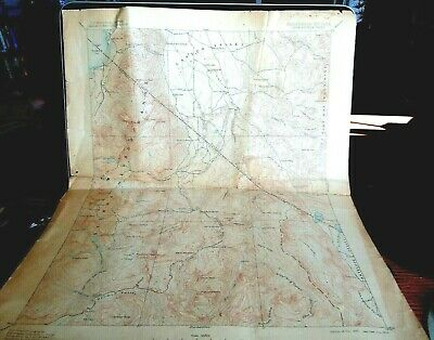 Rare 1893/1905 Us Geological Calif/Nevada Markleeville Cal. Map 19 By 16  As Is