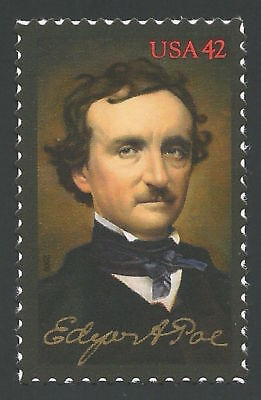 2009 Edgar Allan Poe Writer The Raven Tell-Tale Heart 200th Birthday Stamp MINT!
