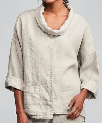 FLAX  Designs Linen  Poetic Pullover      L &  1G   NWT  Oversized