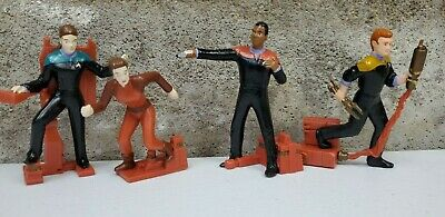 Star Trek Deep Space Nince rubber mini statues lot of 4