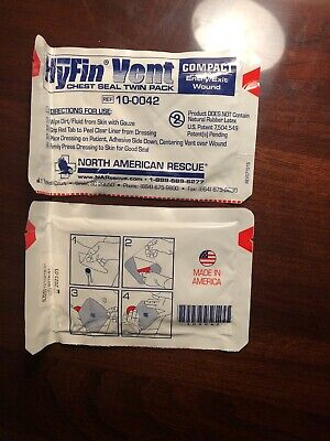 NAR HyFin Vent Compact Chest Seal Twin Pack