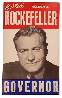 1960's Rockefeller For Governor Campaign Poster
