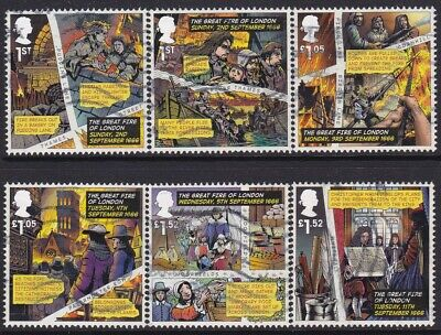 Gb2016  Great Fire Of London  Stamp Set Used