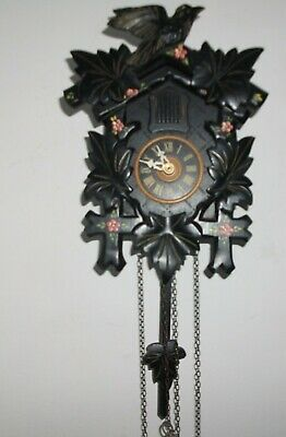 Vintage Regula Twin Weight Cuckoo Clock - Black Forest