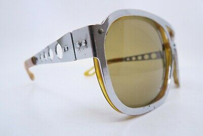 Vintage 60s sports racing driving sunglasses made in Germany holed sides DEADLY
