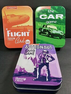 Lagoon Astronaut, Car and Flight complete card games Pepys Series