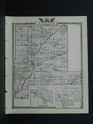 Map of Fayette County & Effingham County (Reversible), Illinois L26 #106