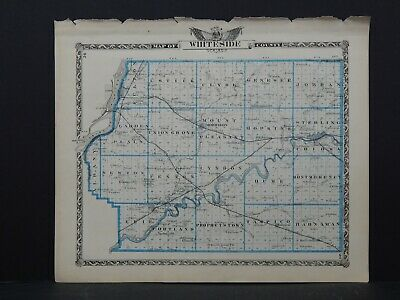 Map of Whiteside County & Rock Island County-Reversible Illinois, 1876 L26 #118