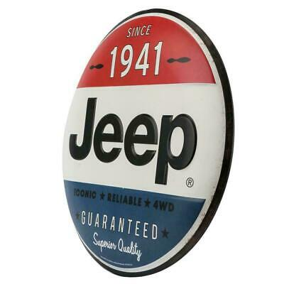 "Jeep Since 1941 24"" Metal Tin Sign American Legend Dome Shape Iconic 4x4 CJ YJ"