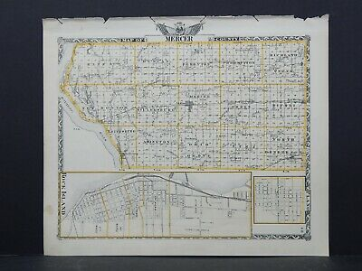 Map of Mercer County & Henderson County (Reversible), Illinois, 1876 L26 #122