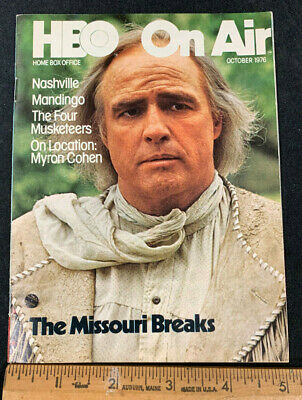 1976 October *The Missouri Breaks* Hbo Home Box Office Movie Guide Booklet (As)