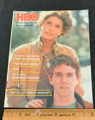 1981 November *Ordinary People* Hbo Home Box Office Movie Guide Booklet (As)