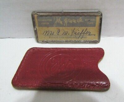 John Wanamaker Dept. Store Vintage Metal Charge Plate Credit Card New Hope, Pa