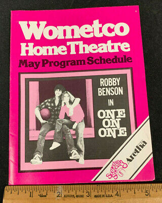 1978 May *One On One/Robby Benson* Wometco Home Theater Movie Guide Booklet (As)