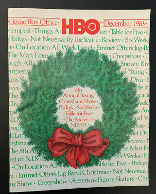 1983 December *Porky's/Six Weeks* Hbo Home Box Office Movie Guide Booklet (As)