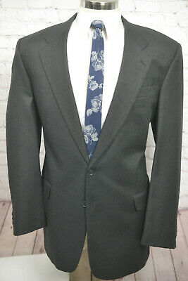 $695 Jack Victor Mens Brown Wool BIG & TALL Pleated 2 Piece Suit 46XL 39Wx30L