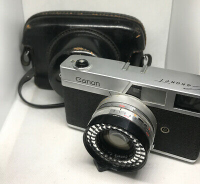 Canon Canonet First Model 1st Vintage Rangefinder Camera w/Canon Lens SE 45mm+++