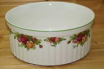 """Royal Albert Old Country Roses Souffle, 8 3/4"""" x 3 3/4"""" 1st Quality ENGLAND"""