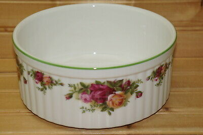 """Royal Albert Old Country Roses Souffle, 7"""" x 3 1/8"""" 1st Quality MADE IN ENGLAND"""