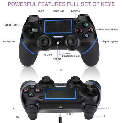 Wireless Bluetooth Gamepad Controller for Dualshock 4 PS4 Sony PlayStation 4