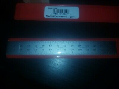 STARRETT C637-150 SPRING TEMPERED RULE Brand new in sleeve!!!