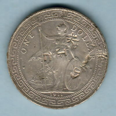 Great Britain. 1911-B Trade Dollar..  gVF - obverse chop marks