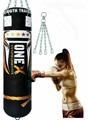 5ft Boxing Punching Bag MMA Martial Arts Training Heavy Filled Fitness Punch Bag